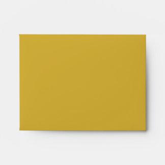 Color Block Gold NoteCard Envelope Lined in Black