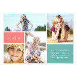 """Color Block Grad Announcement by Origami Prints 5"""" X 7"""" Invitation Card"""