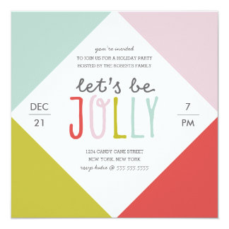 Color Block Holiday Party Card