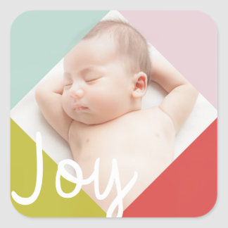 Color Block Joy Square Sticker