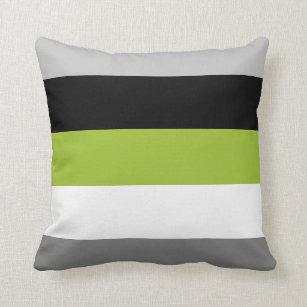 Green and Black Dots 12 Decorative Throw Pillow Lime Green and Black Pillow Lime Green Home Decor Lime Green Flowers Polka Dot Pillow