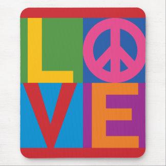 Color-Block LOVE Peace Mousepads