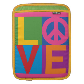 Color-Block LOVE=Peace Sleeve For iPads
