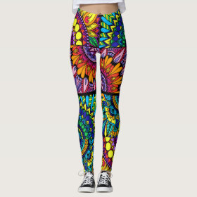 Color Block Mandala Leggings
