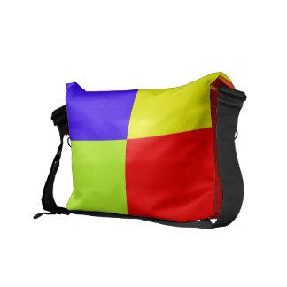 Color Block Messenger Bag