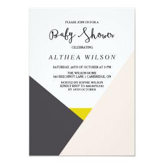 Color Block   Modern Baby Shower Invitation
