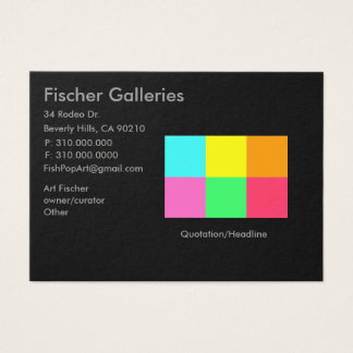 Color Block Party_Art Gallery Business Card