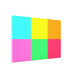 Color Block Party_Where did you get that Stretched Canvas Print