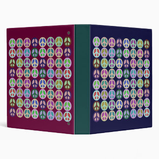 Color Block Peace Notebook 3 Ring Binder