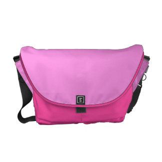 Color block pink commuter bags