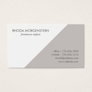 Color Block - Platinum Retro Modern Business Cards