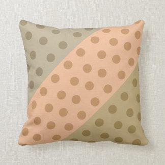 Color Block Polka Dots (Camel on Summer Pastels) Pillows