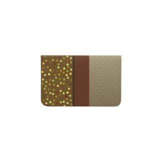 Color Block Polka Dots Pattern Business Card Holder