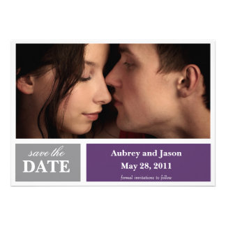 Color Block Save the Date Announcement