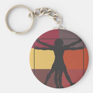 Color Block Vitruvian Man Key Chain