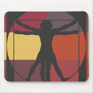 Color Block Vitruvian Man Mouse Pad