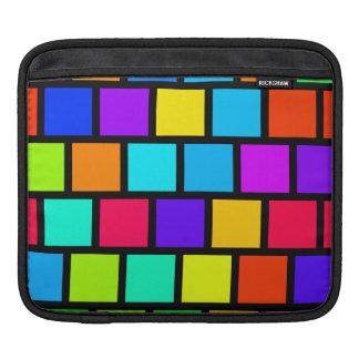 Color Blocking Rainbow Colors iPad Sleeve