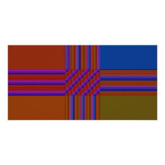 Color Blocks Abstract Custom Photo Card