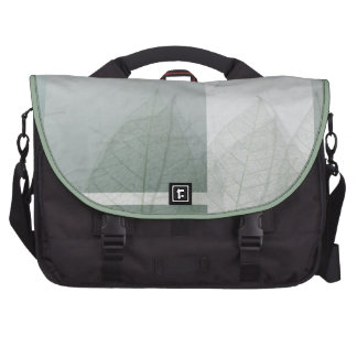 Color blocks and leaves computer bag