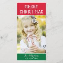 Color Blocks Editable Greeting Holiday Card