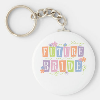 Color Blocks Future Bride Keychain