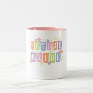 Color Blocks Future Bride Two-Tone Coffee Mug
