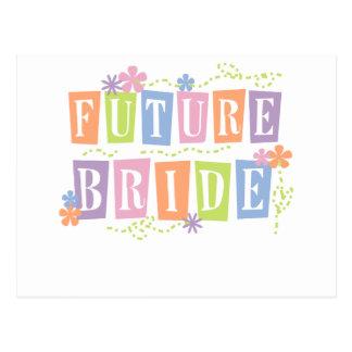 Color Blocks Future Bride Postcard