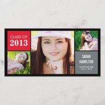 Color Blocks Graduation Announcement Photo Card