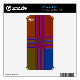 Color Blocks in Orange, Blue, and Green Decals For The iPhone 4