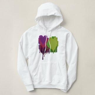 Color Blocks Melting Hearts Hoodie