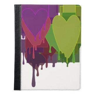 Color Blocks Melting Hearts iPad Case