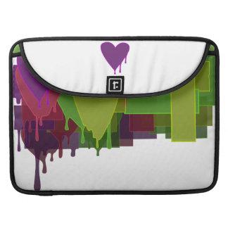 Color Blocks Melting Hearts Sleeve For MacBook Pro
