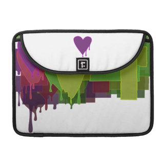 Color Blocks Melting Hearts Sleeve For MacBooks