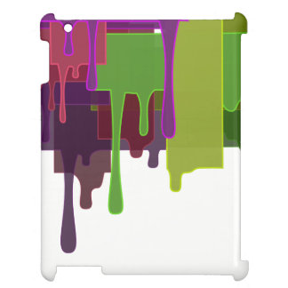 Color Blocks Melting iPad Cover