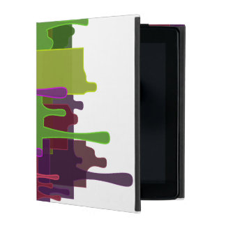 Color Blocks Melting iPad Covers