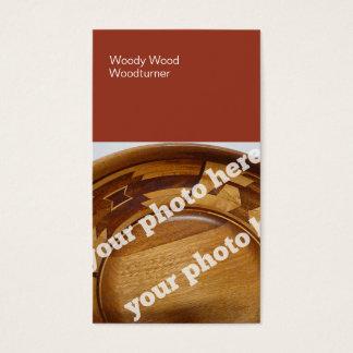 Color Blocks Woodturning Custom Photo BusinessCard Business Card