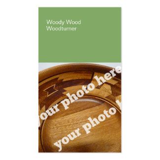 Color Blocks Woodturning Custom Photo BusinessCard Double-Sided Standard Business Cards (Pack Of 100)