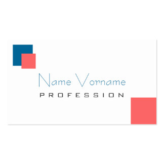 color bloks business card templates