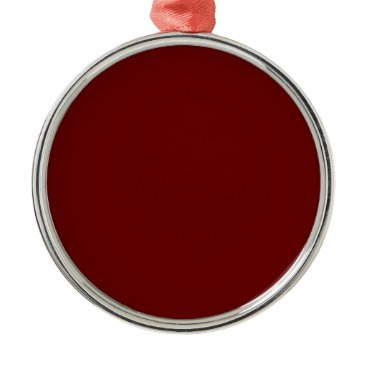 Halloween Themed color blood red metal ornament