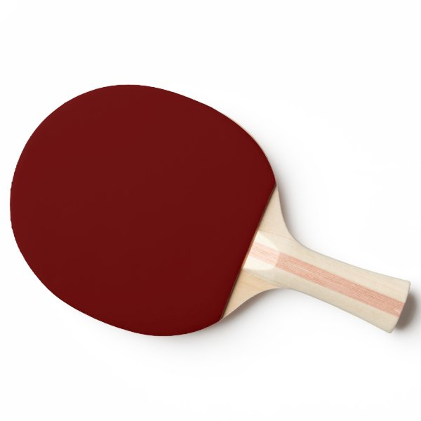 color blood red ping pong paddle
