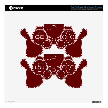 Halloween Themed color blood red PS3 controller decals
