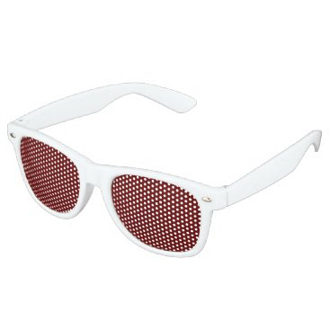 Halloween Themed color blood red retro sunglasses