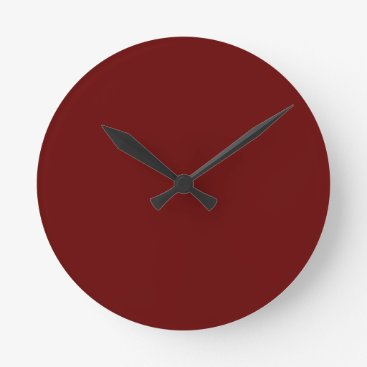 Halloween Themed color blood red round clock