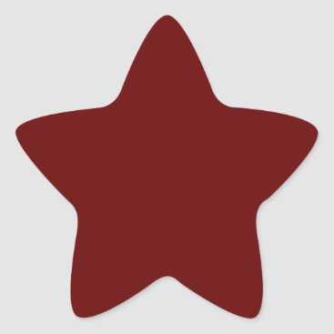 Halloween Themed color blood red star sticker
