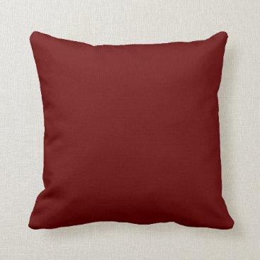 Halloween Themed color blood red throw pillow