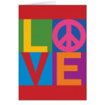Color-Bloque LOVE=Peace Felicitación