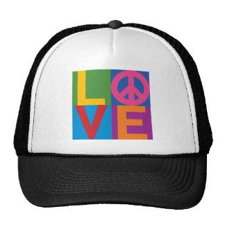 Color-Bloque LOVE=Peace Gorro
