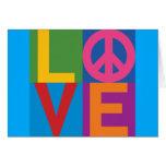 Color-Bloque LOVE=Peace Tarjetas