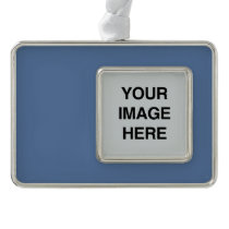 COLOR BLUE GRAY -.png Silver Plated Framed Ornament