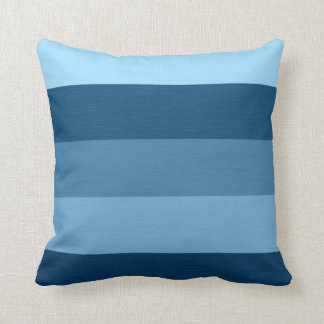 Color Blue Tones Retro Stripes Throw Pillow